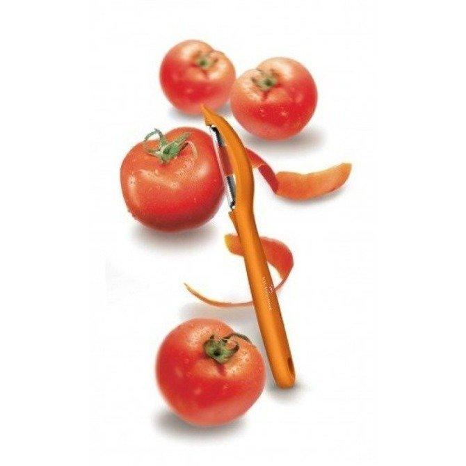 Obieraczka Victorinox, ząbkowane ostrze pomarańczowa