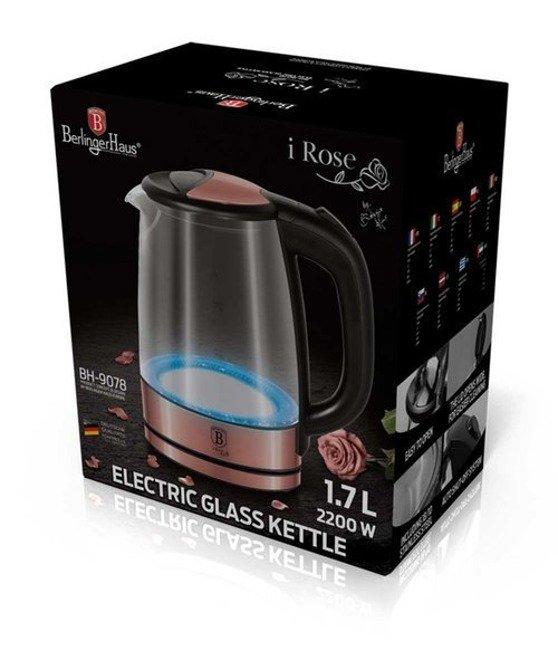 Czajnik elektryczny szklany Berlinger Haus 1,7l / Czajnik LED