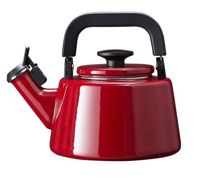 Czajnik emaliowany nowoczesny Forchetto Moderno Rosso 2,1l czerwony