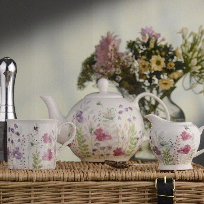 Dzbanek DMD In Bloom ceramiczny do zaparzania herbaty 1l