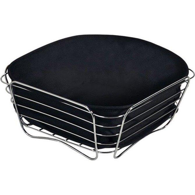 Koszyk na pieczywo czarny KESPER 26x26cm