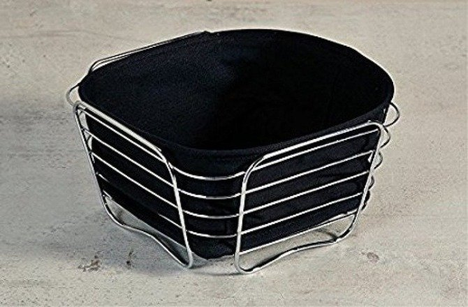 Koszyk na pieczywo czarny KESPER