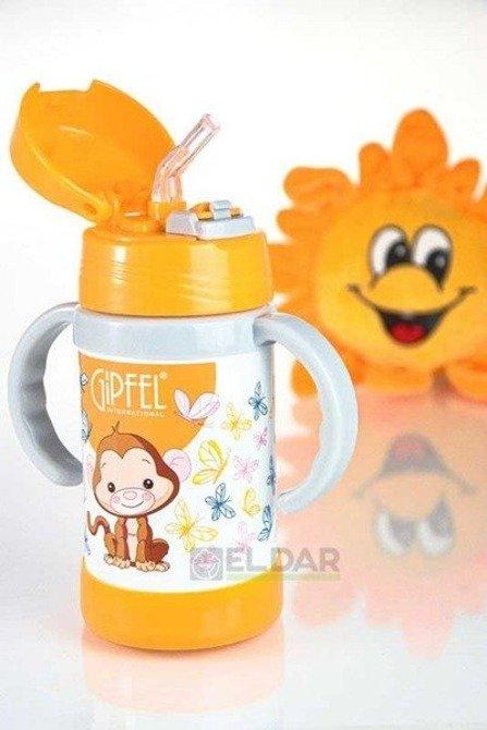 Kubek termiczny dla dzieci GIPFEL 260ml Pomarańczowy