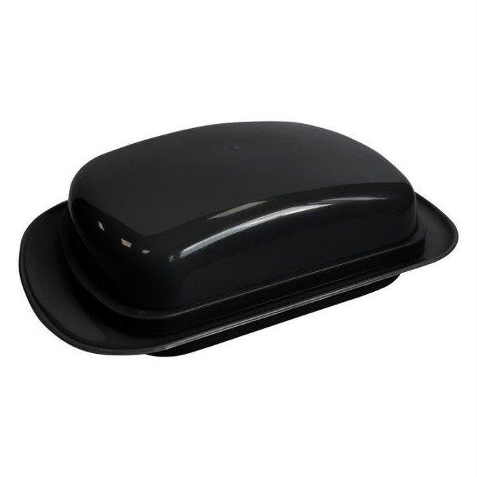 Maselnica czarna / Pojemnik na masło / Maselniczka z pokrywą