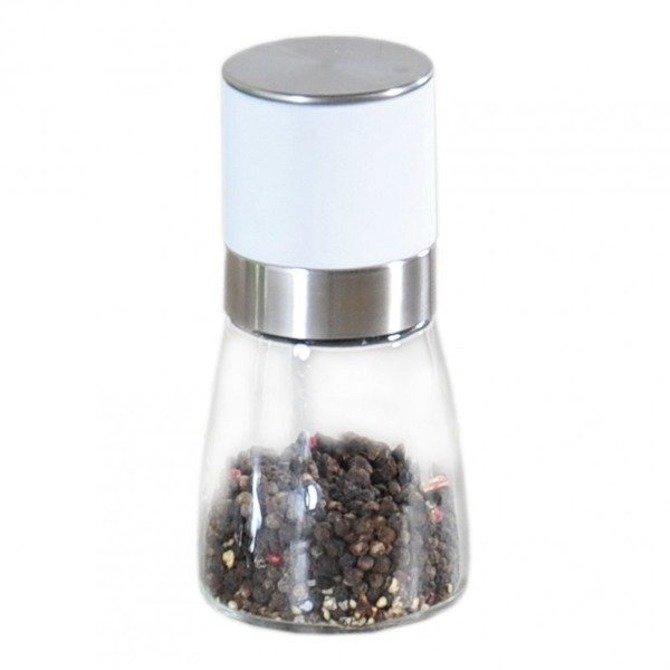 Młynek ceramiczny do soli / pieprzu biały Kesper