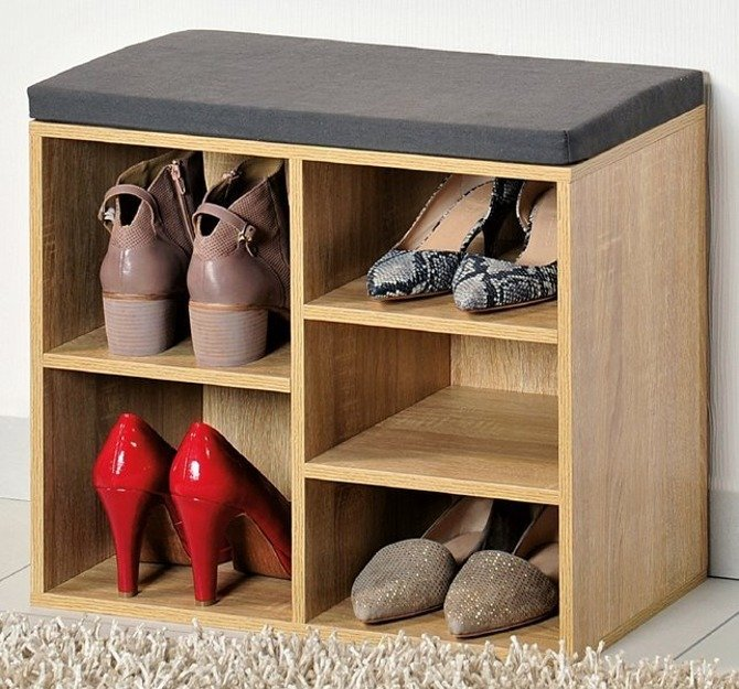 Szafka na buty z siedziskiem Kesper brązowa 51,5x29,5x48cm