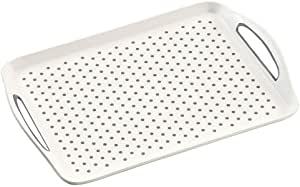 Taca antypoślizgowa do serwowania biała Kesper 45,5x32cm