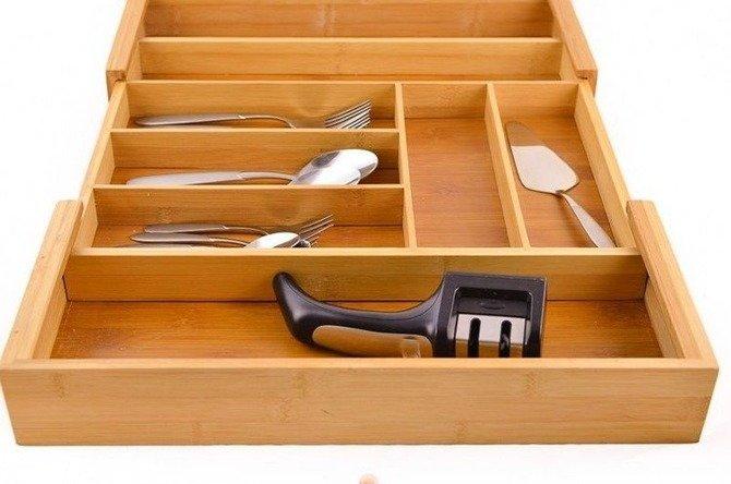 Wkład  do szuflady rozsuwany Kesper 35-58cm