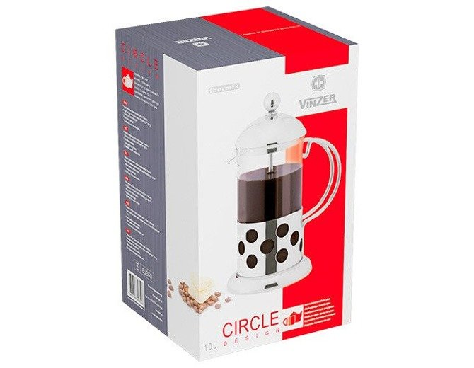 Zaparzacz french press Vinzer Circle 1000 ml