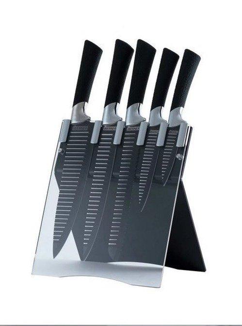 Zestaw 5 noży w nowoczesnym stojaku Werner