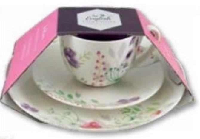 Zestaw deserowy 3cz porcelana DMD In Bloom
