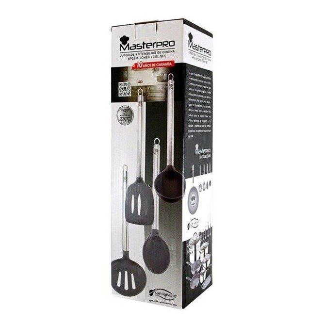 Zestaw nylonowych przyborów kuchennych Masterpro Bergner 4cz