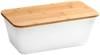 Chlebak Kesper z deską do krojenia bambusową Biały 36x20x14